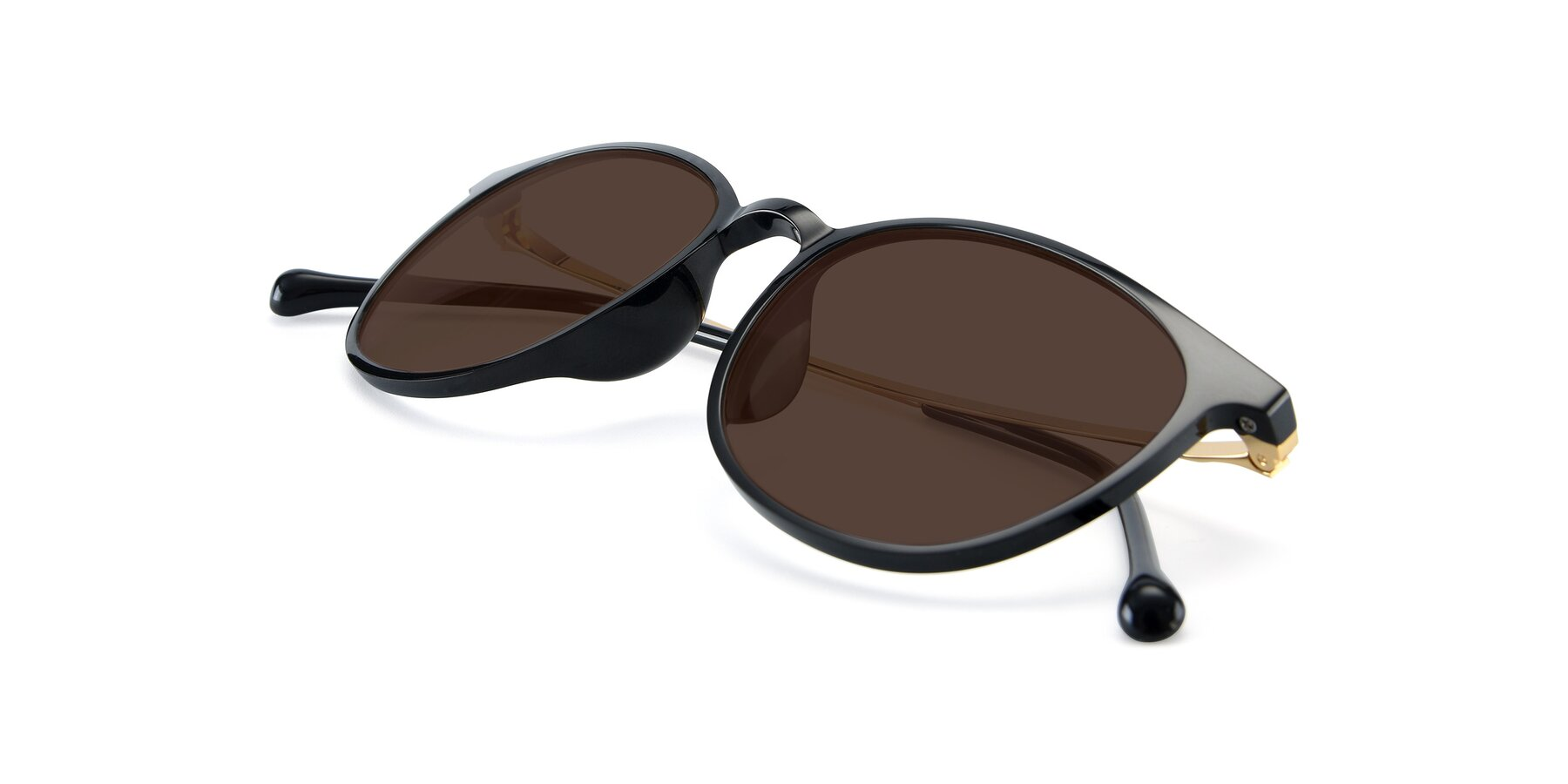 View of XC-6006 in Black-Gold with Brown Tinted Lenses