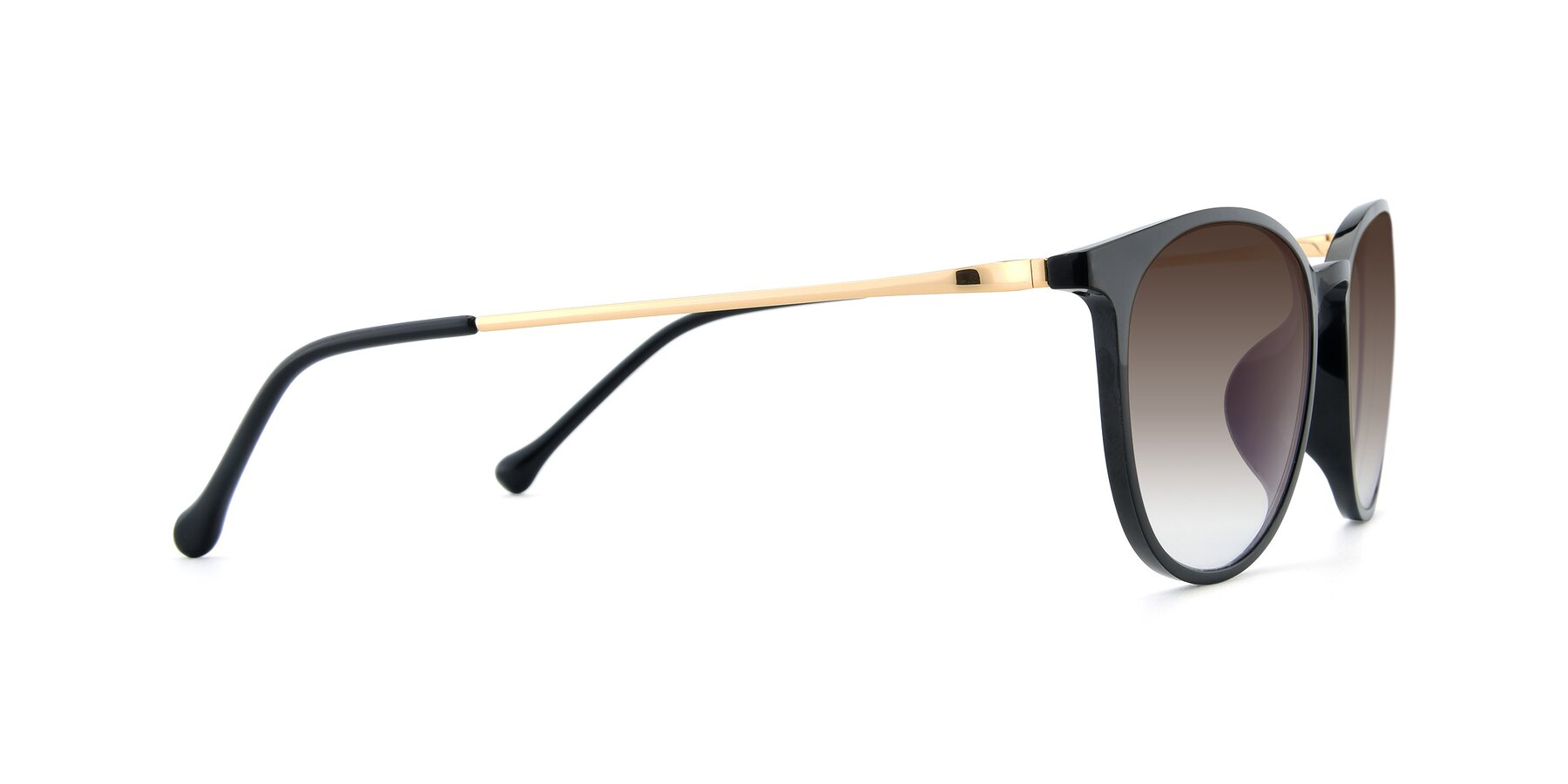 Side of XC-6006 in Black-Gold with Brown Gradient Lenses