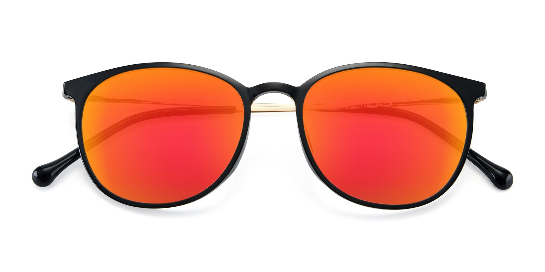 Folded Front of XC-6006 in Black-Gold with Red Gold Mirrored Lenses