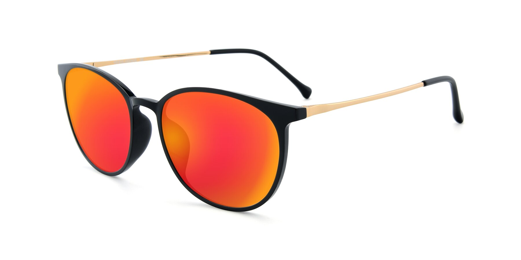 Angle of XC-6006 in Black-Gold with Red Gold Mirrored Lenses