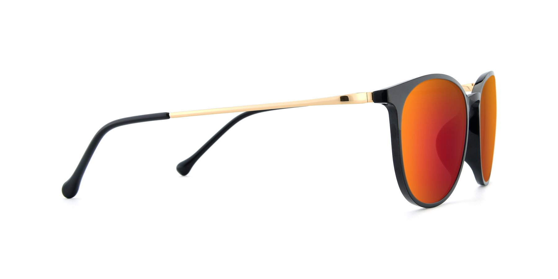 Side of XC-6006 in Black-Gold with Red Gold Mirrored Lenses