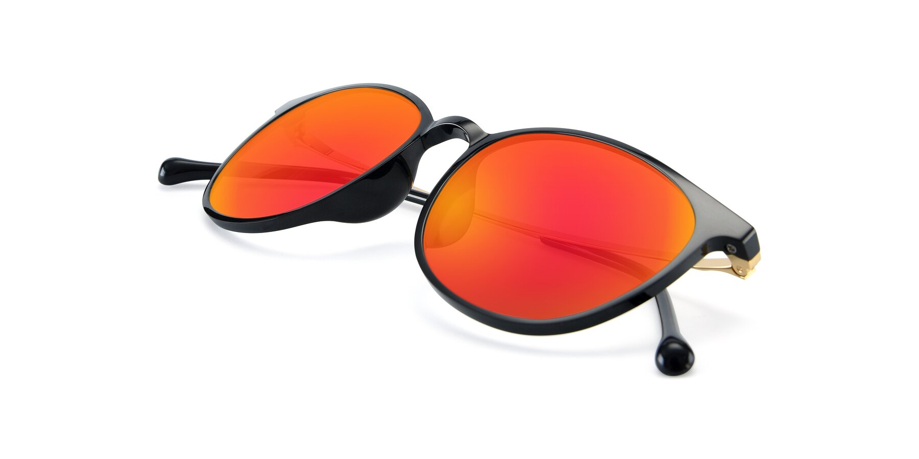 View of XC-6006 in Black-Gold with Red Gold Mirrored Lenses