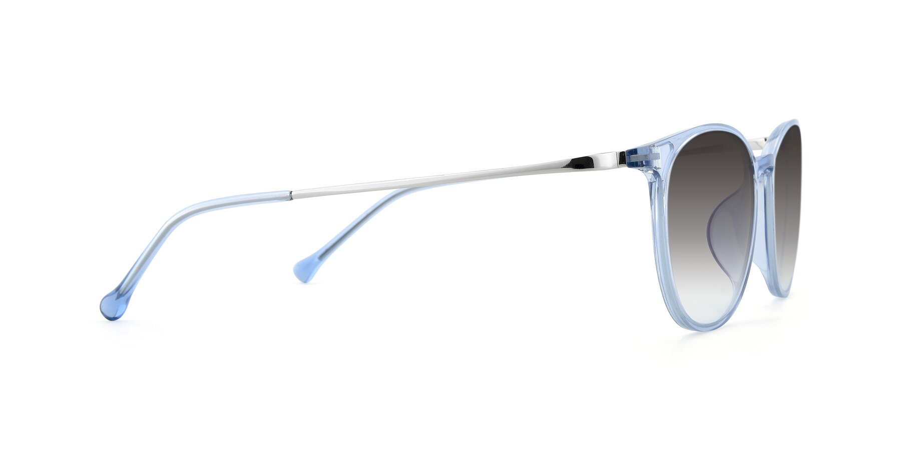 Side of XC-6006 in Blue Amber-Silver with Gray Gradient Lenses