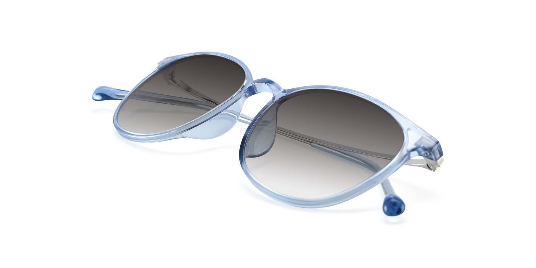 View of XC-6006 in Blue Amber-Silver with Gray Gradient Lenses