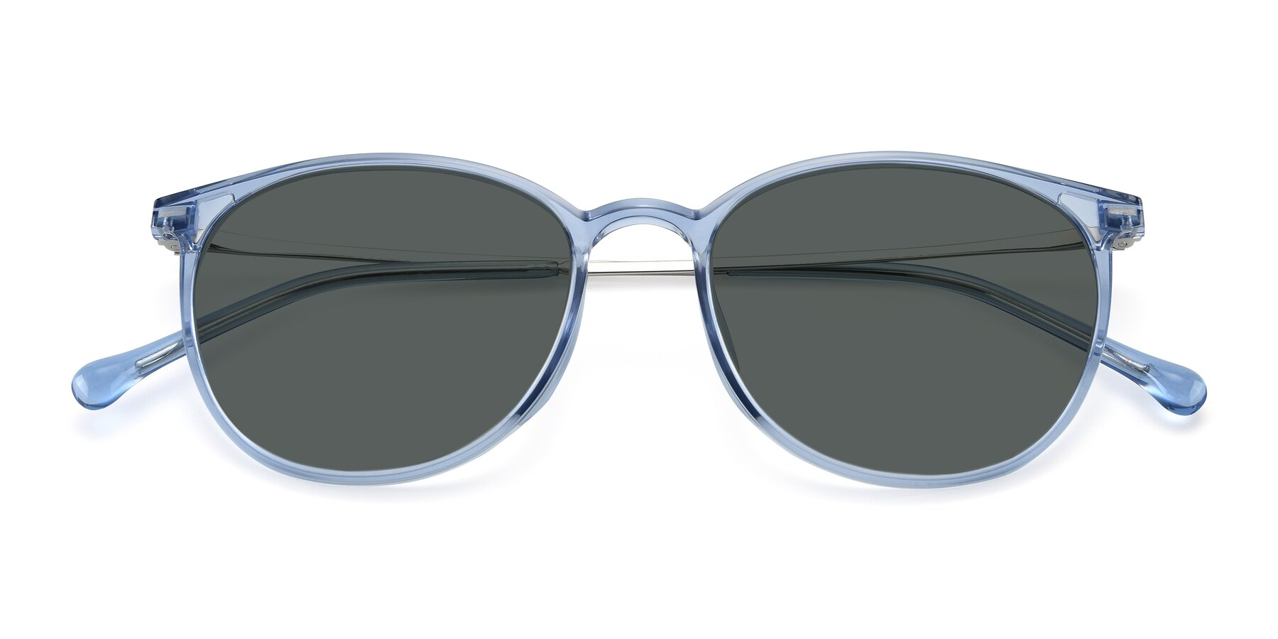 Folded Front of XC-6006 in Blue Amber-Silver with Gray Polarized Lenses