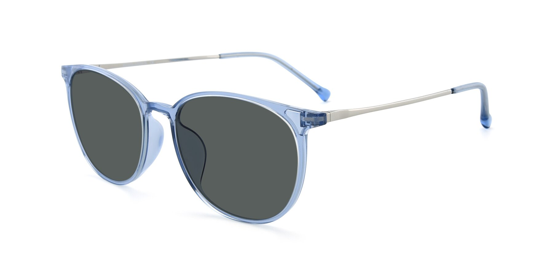 Angle of XC-6006 in Blue Amber-Silver with Gray Polarized Lenses