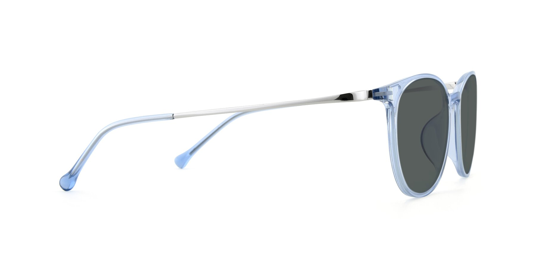 Side of XC-6006 in Blue Amber-Silver with Gray Polarized Lenses