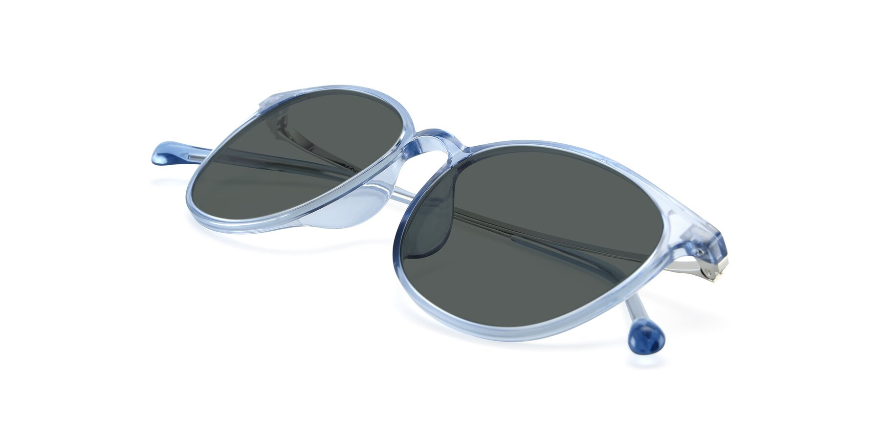 View of XC-6006 in Blue Amber-Silver with Gray Polarized Lenses