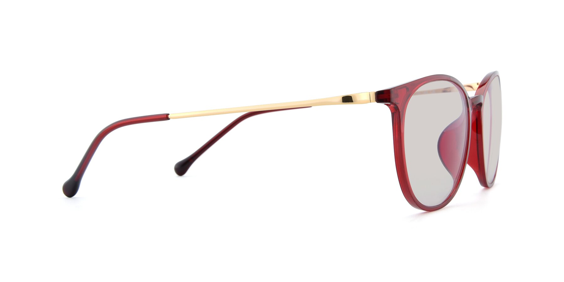 Side of XC-6006 in Wine-Gold with Light Brown Tinted Lenses