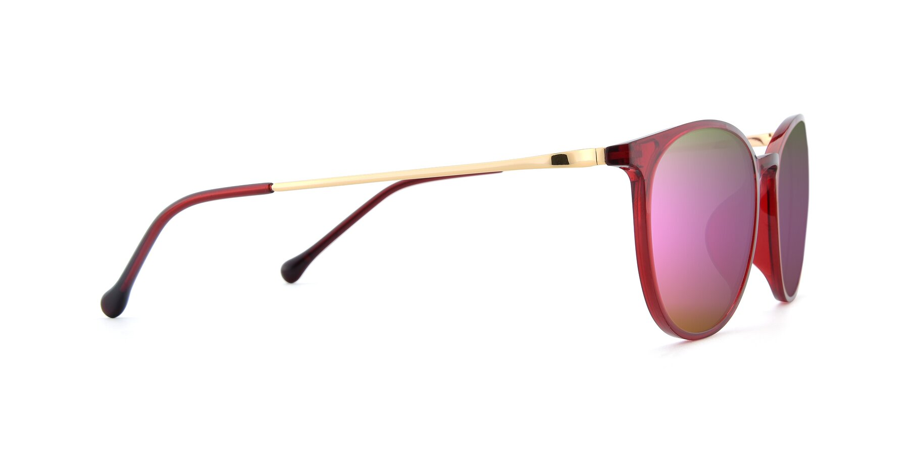 Side of XC-6006 in Wine-Gold with Pink Mirrored Lenses