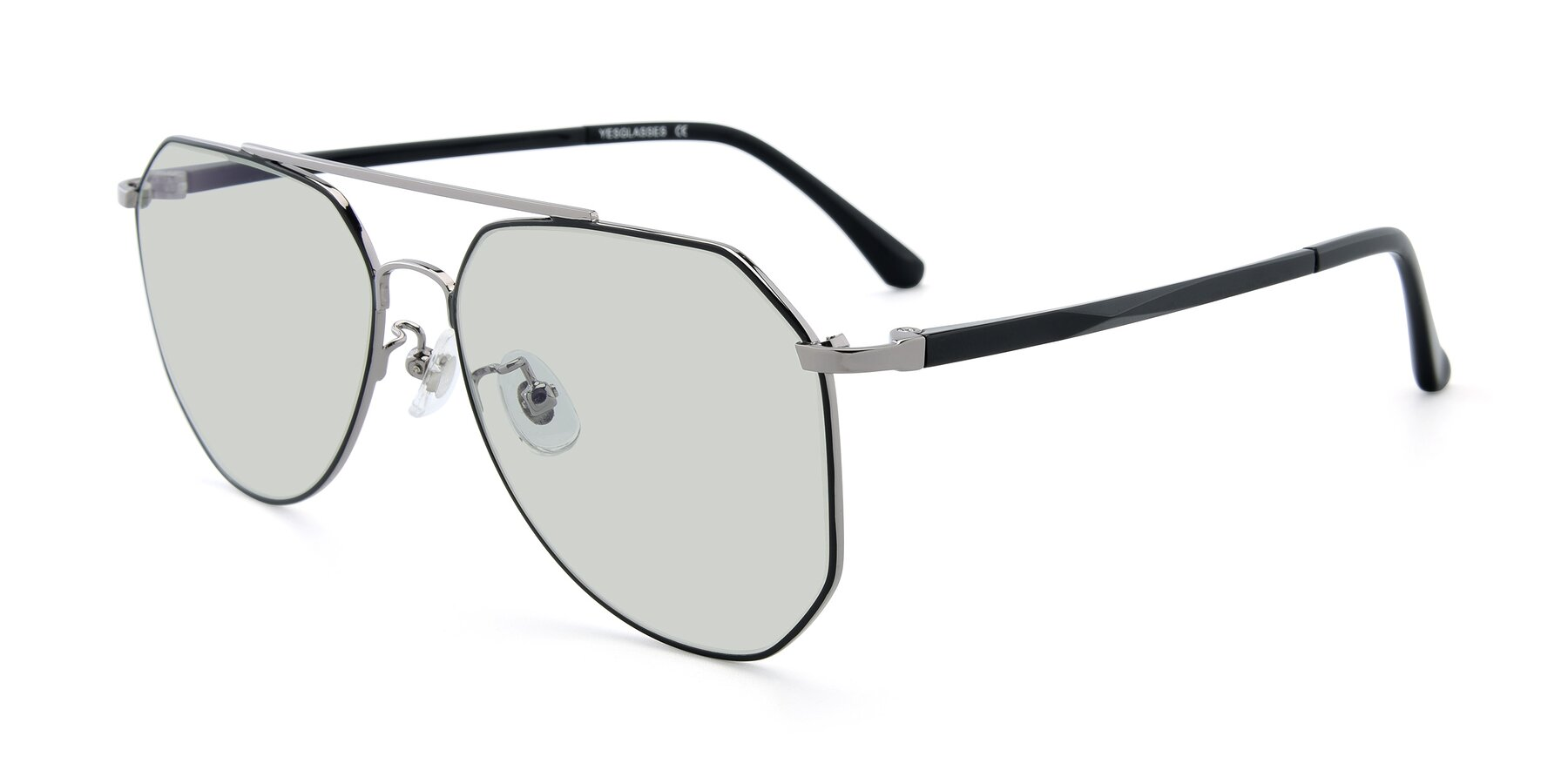 Angle of XC-8040 in Black/ Gun with Light Green Tinted Lenses