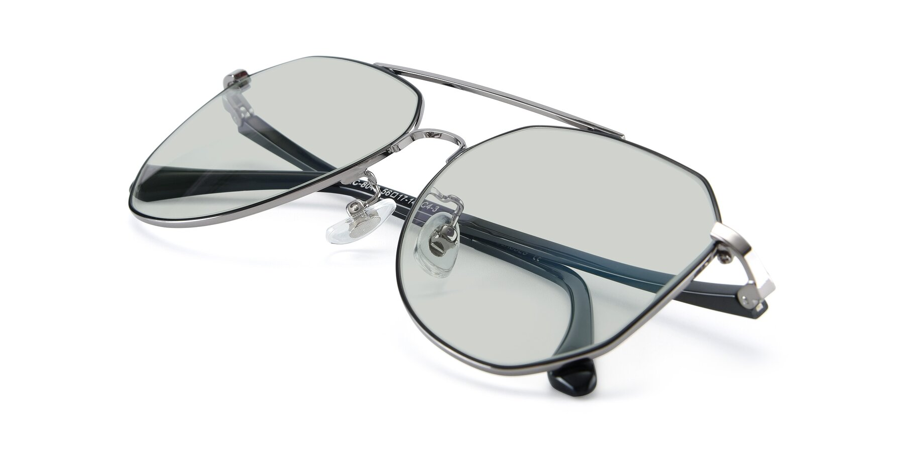 View of XC-8040 in Black/ Gun with Light Green Tinted Lenses