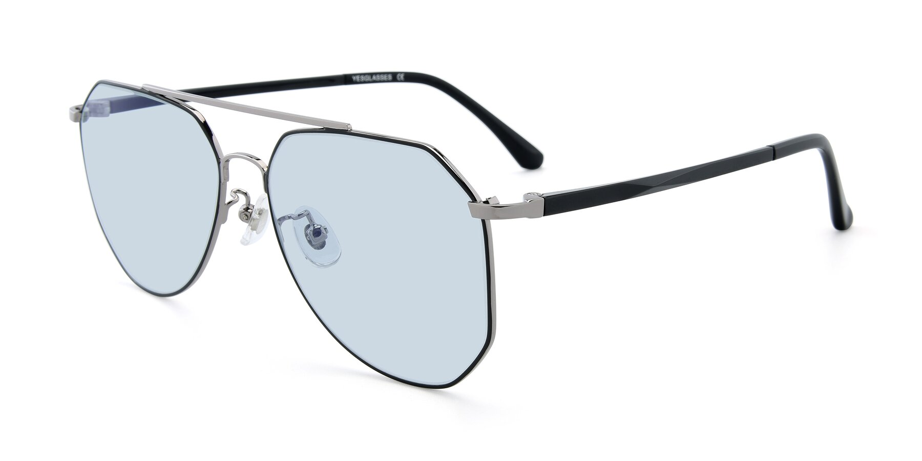 Angle of XC-8040 in Black/ Gun with Light Blue Tinted Lenses