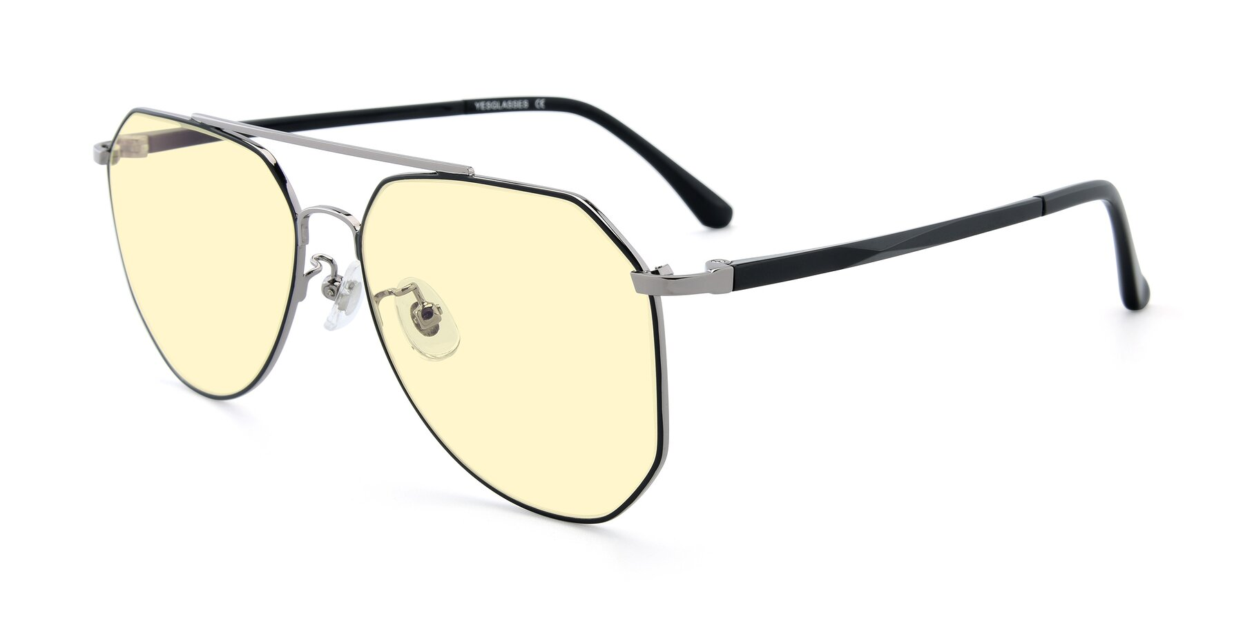 Angle of XC-8040 in Black/ Gun with Light Yellow Tinted Lenses