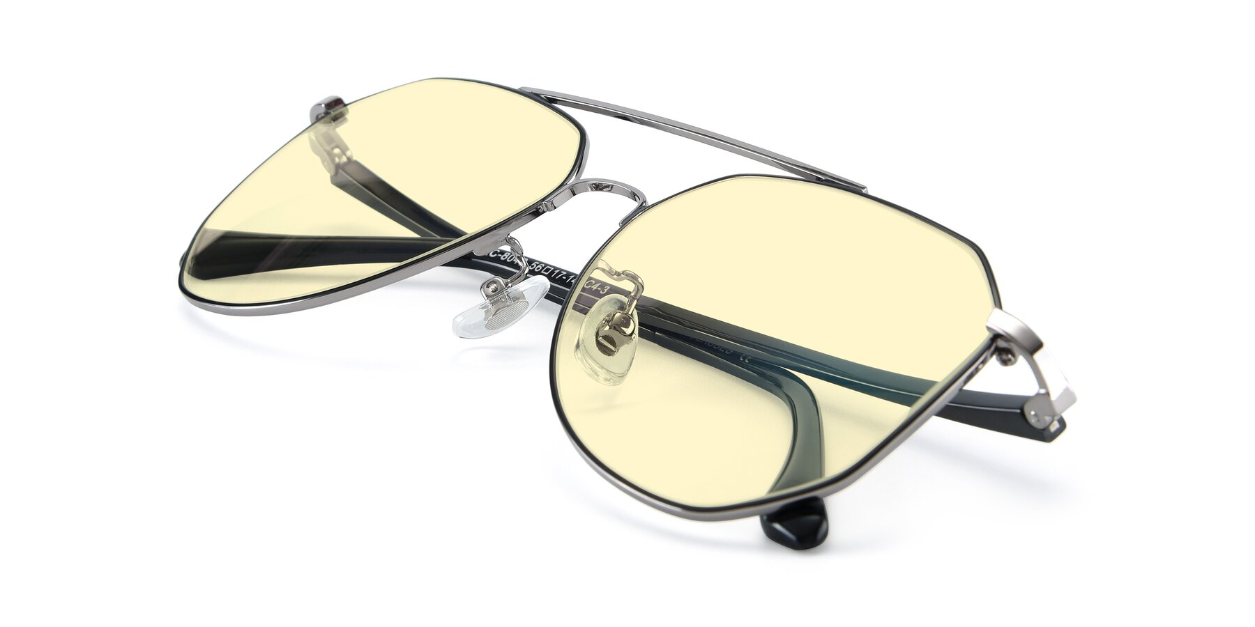 View of XC-8040 in Black/ Gun with Light Yellow Tinted Lenses