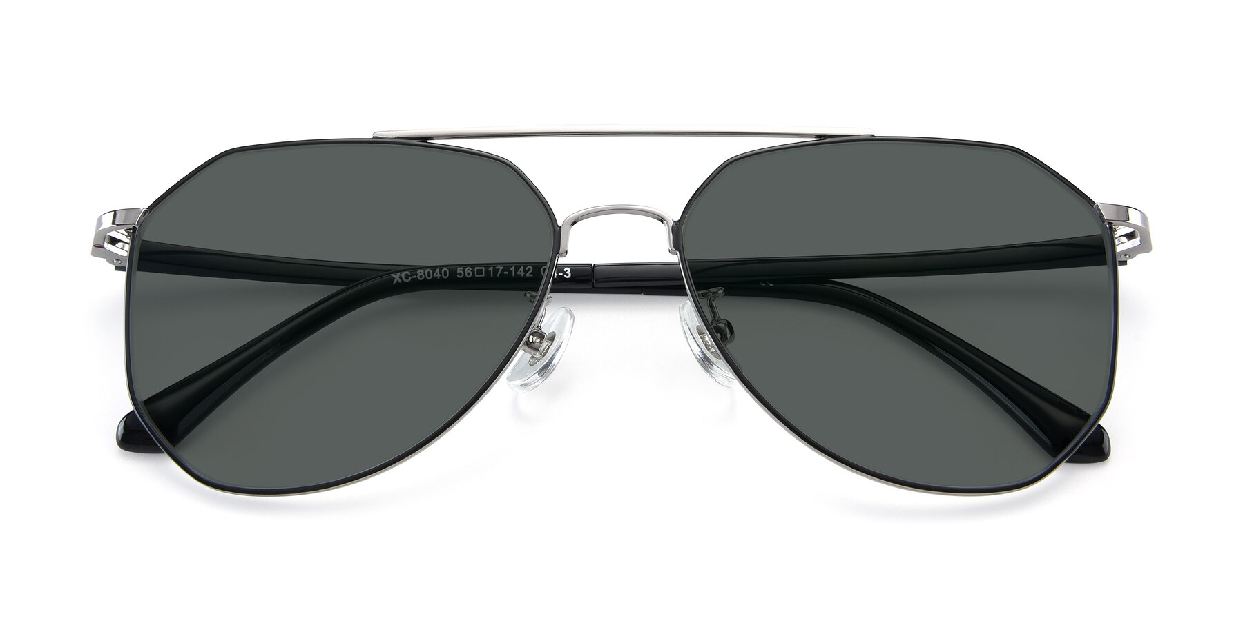 Folded Front of XC-8040 in Black/ Gun with Gray Polarized Lenses