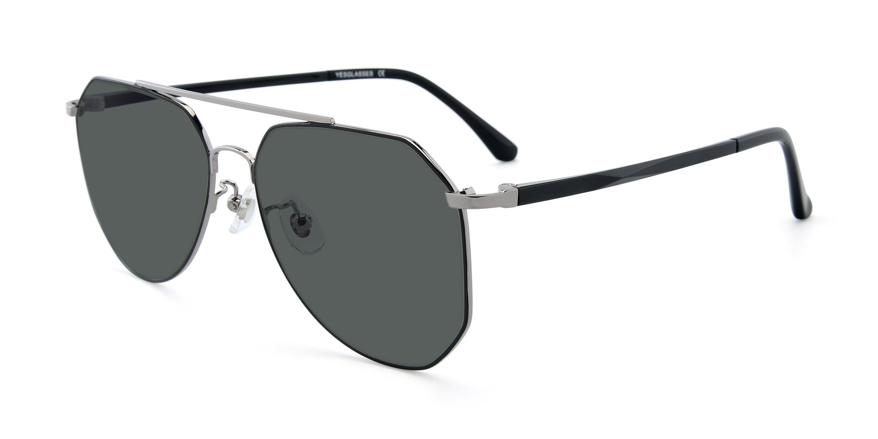 Angle of XC-8040 in Black/ Gun with Gray Polarized Lenses