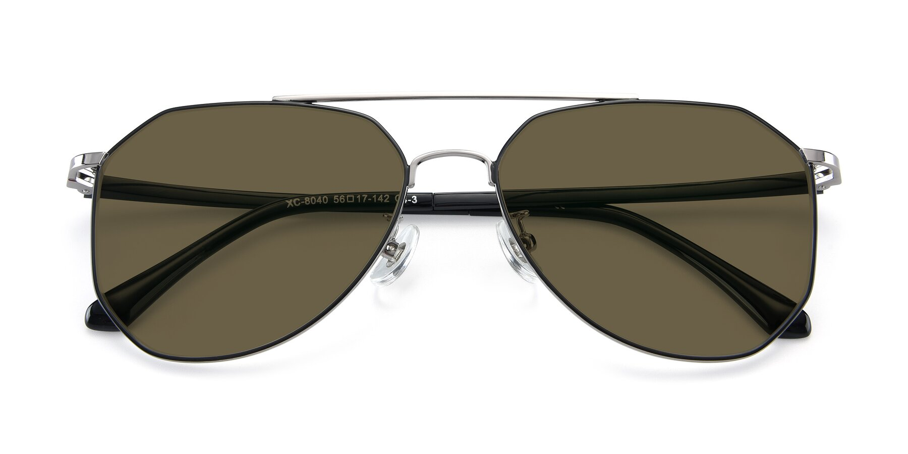 Folded Front of XC-8040 in Black/ Gun with Brown Polarized Lenses