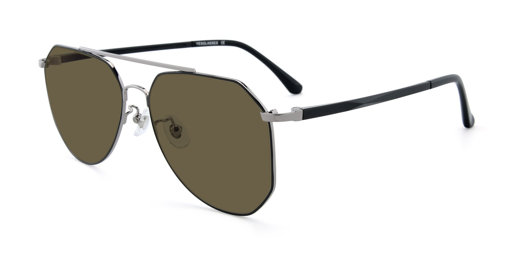 Angle of XC-8040 in Black/ Gun with Brown Polarized Lenses