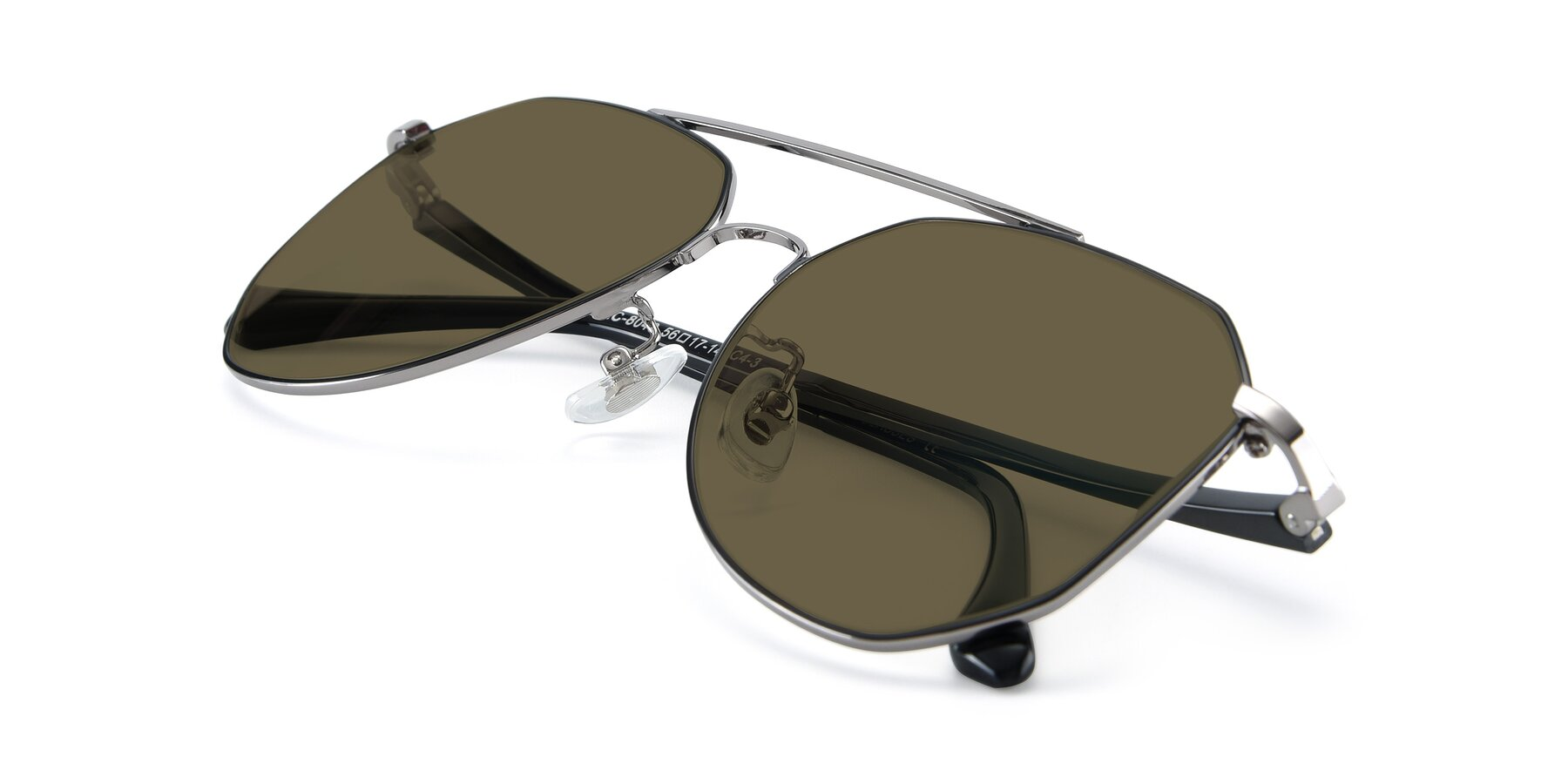 View of XC-8040 in Black/ Gun with Brown Polarized Lenses