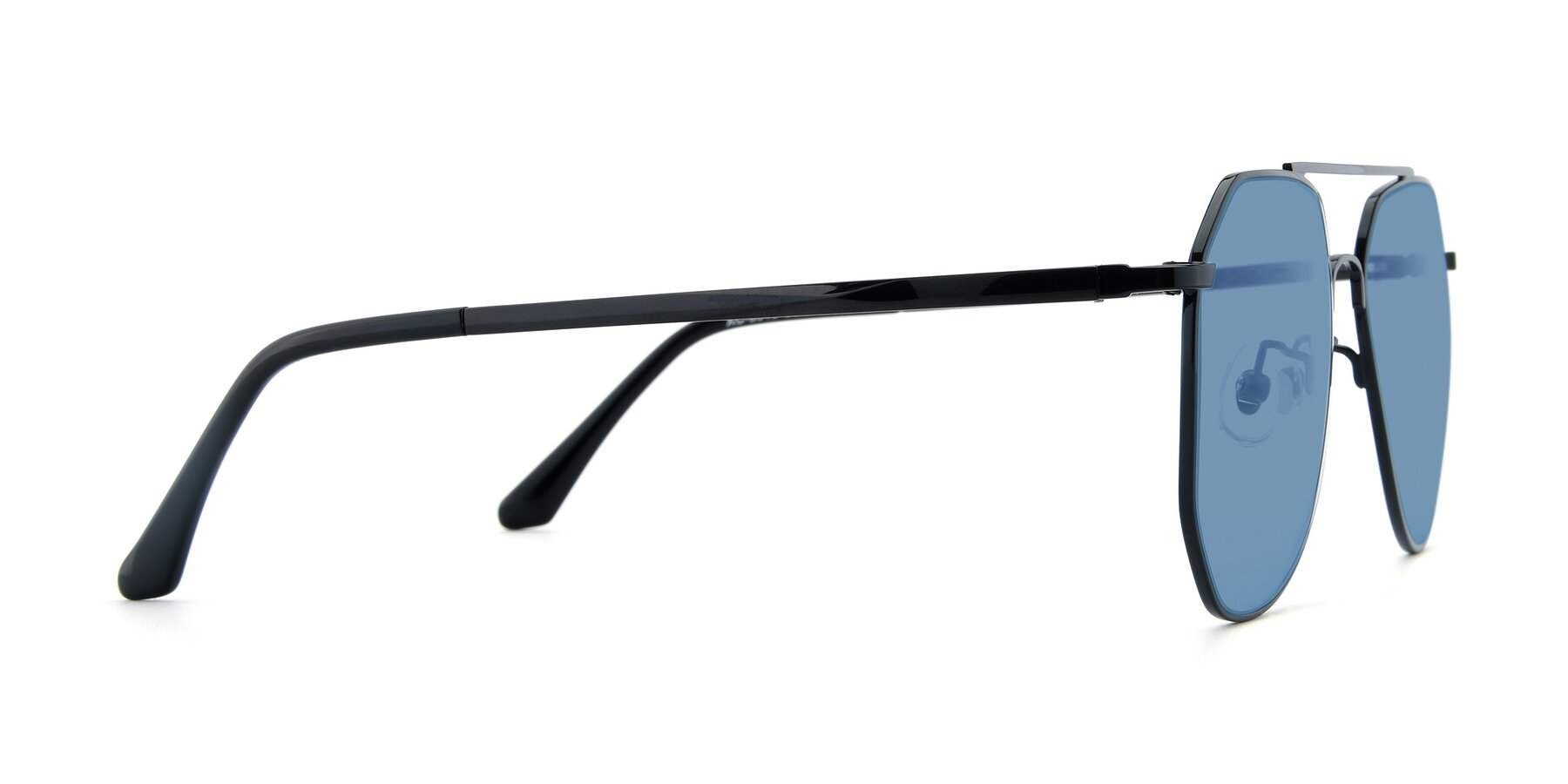 Side of XC-8040 in Black with Medium Blue Tinted Lenses
