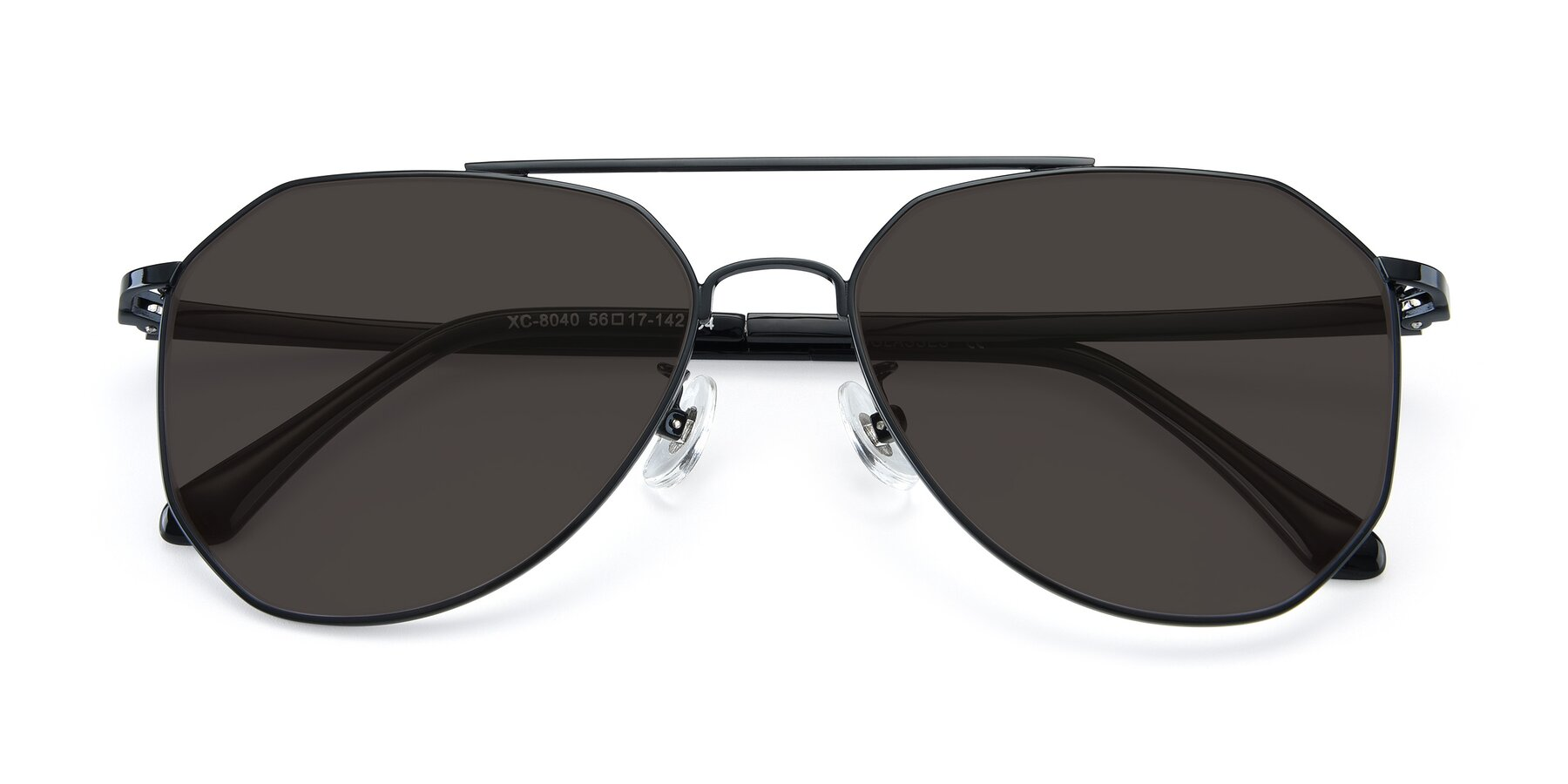 Folded Front of XC-8040 in Black with Gray Tinted Lenses