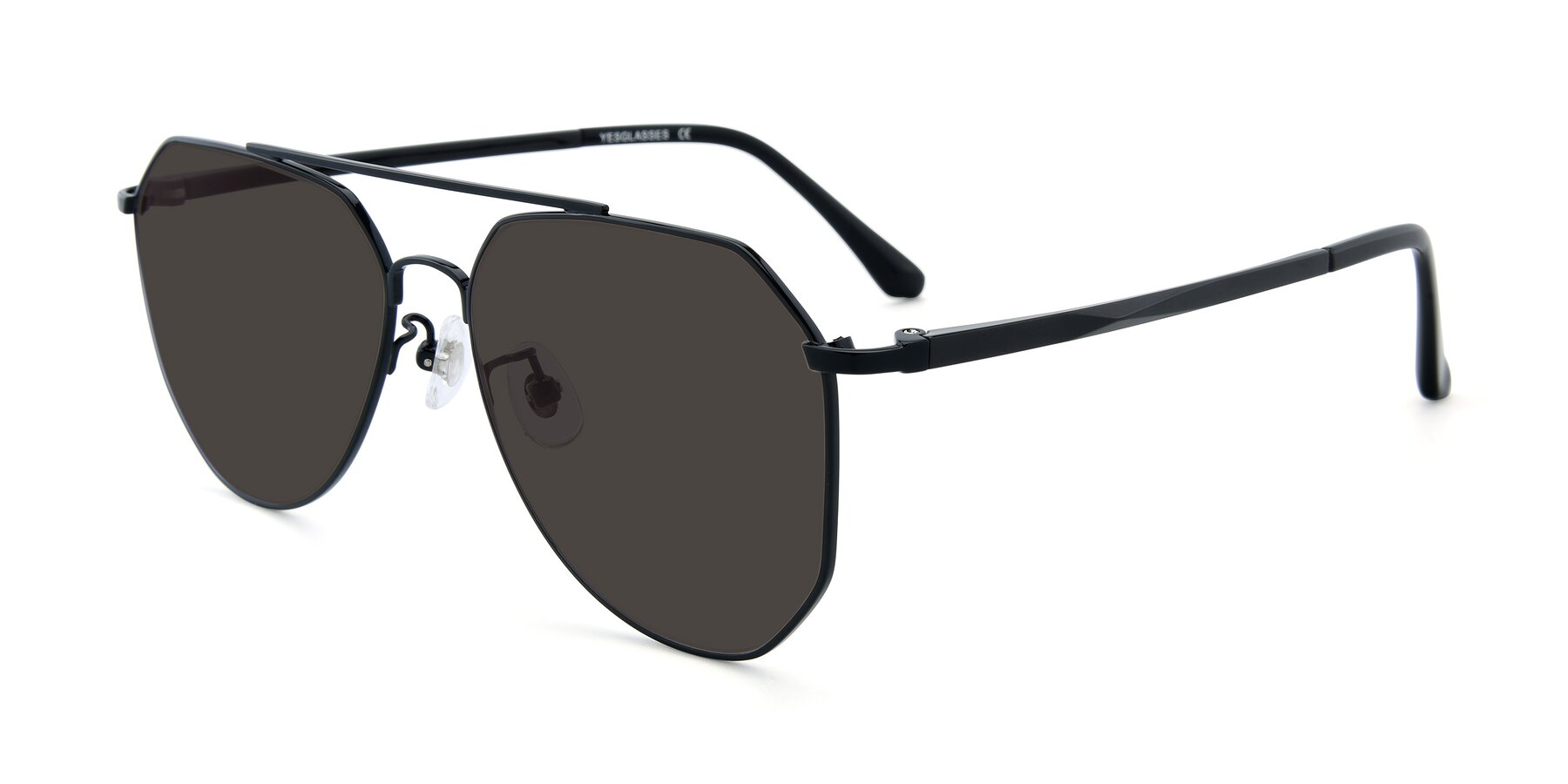 Angle of XC-8040 in Black with Gray Tinted Lenses