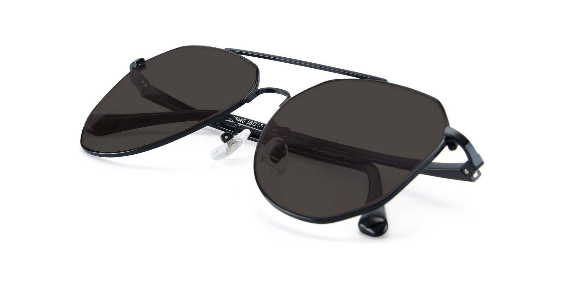 View of XC-8040 in Black with Gray Tinted Lenses