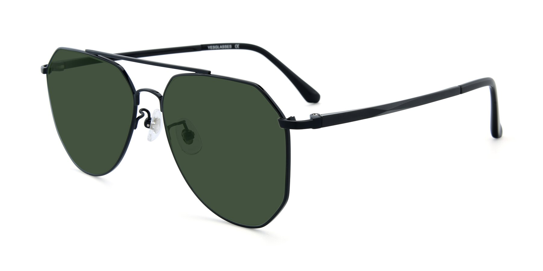 Angle of XC-8040 in Black with Green Tinted Lenses
