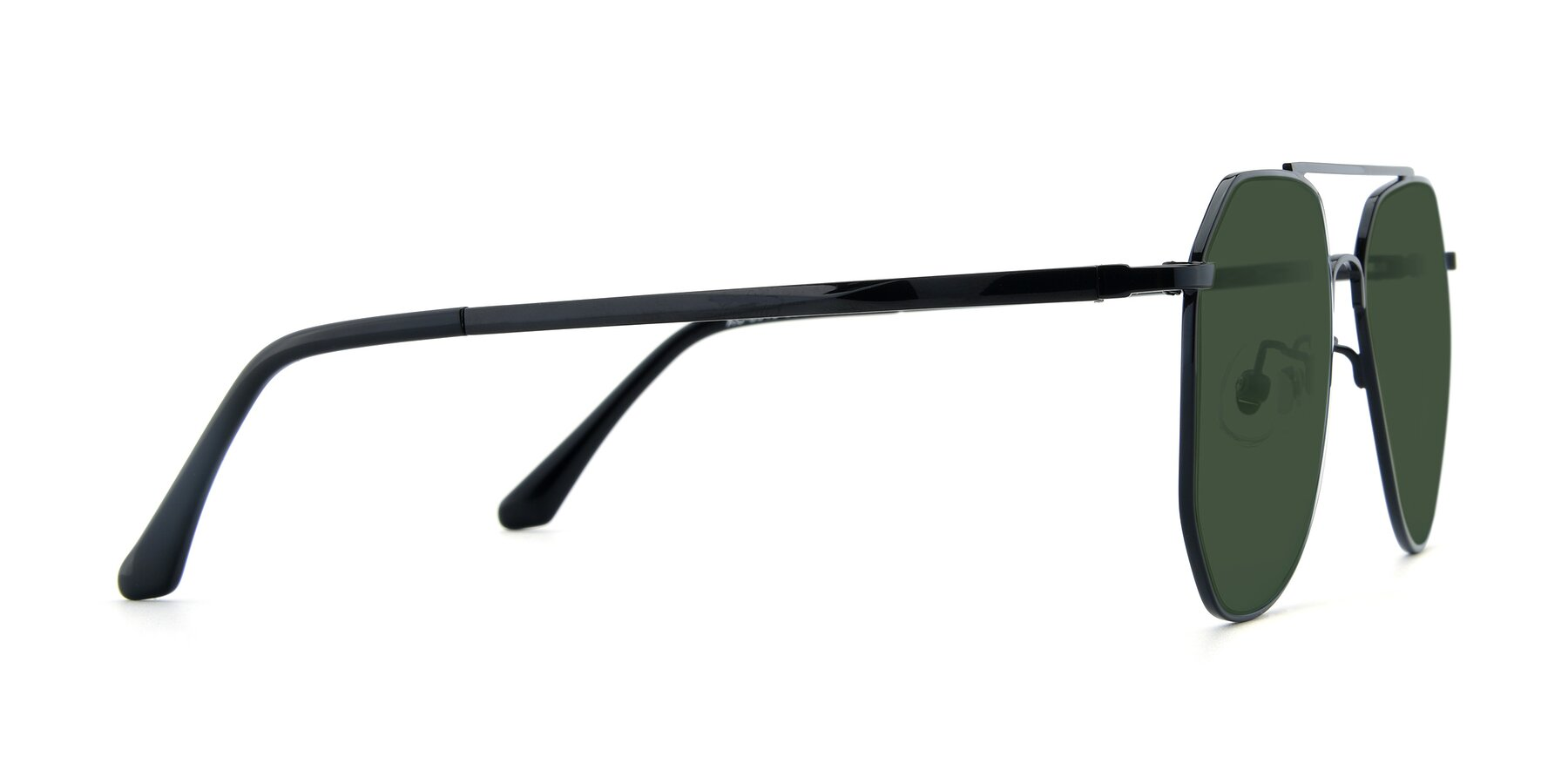 Side of XC-8040 in Black with Green Tinted Lenses