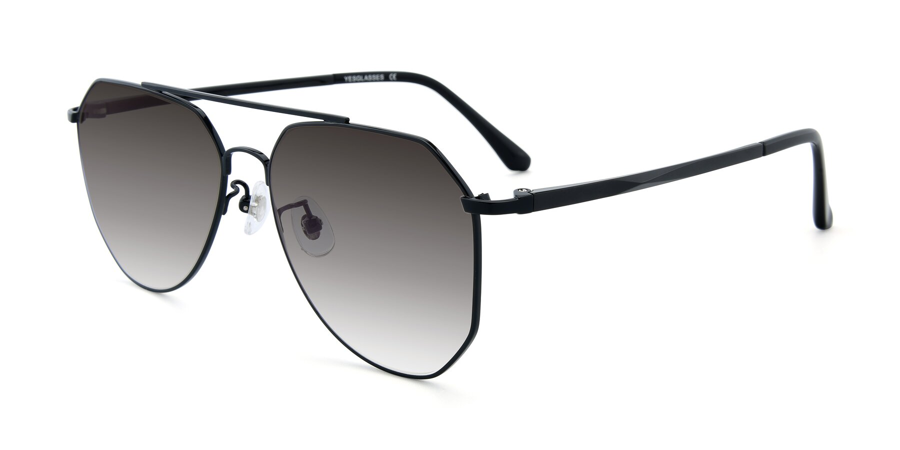 Angle of XC-8040 in Black with Gray Gradient Lenses