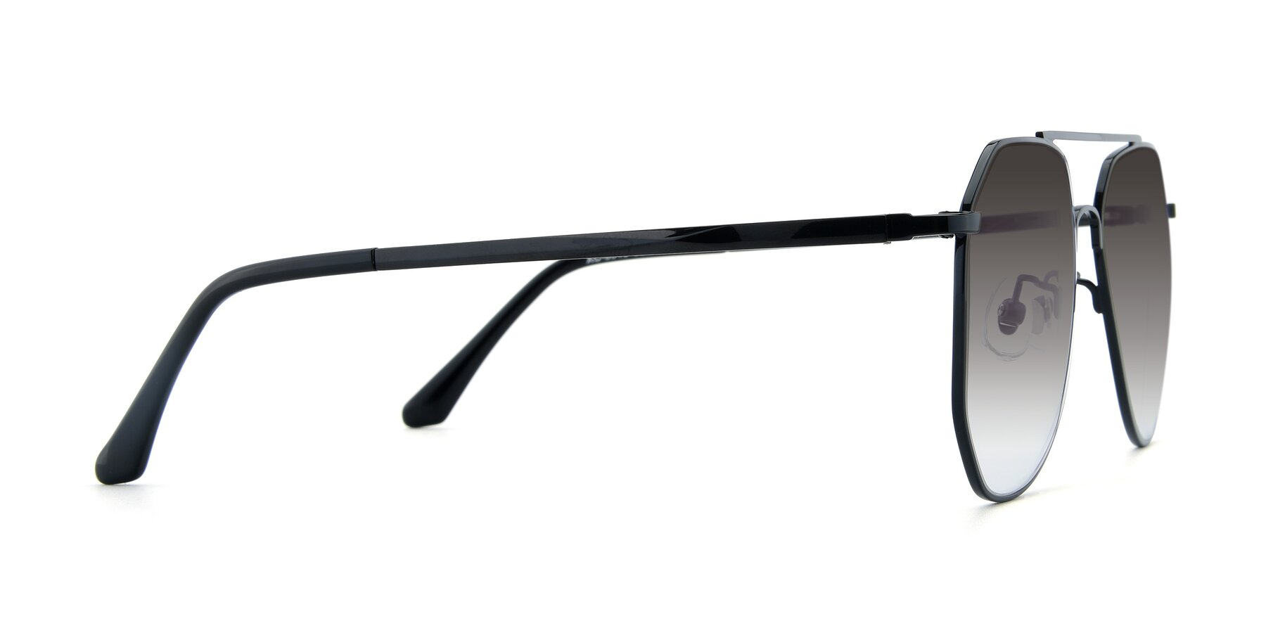 Side of XC-8040 in Black with Gray Gradient Lenses