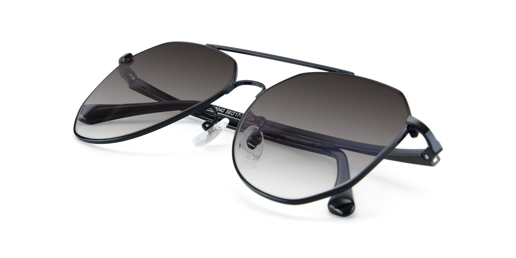 View of XC-8040 in Black with Gray Gradient Lenses