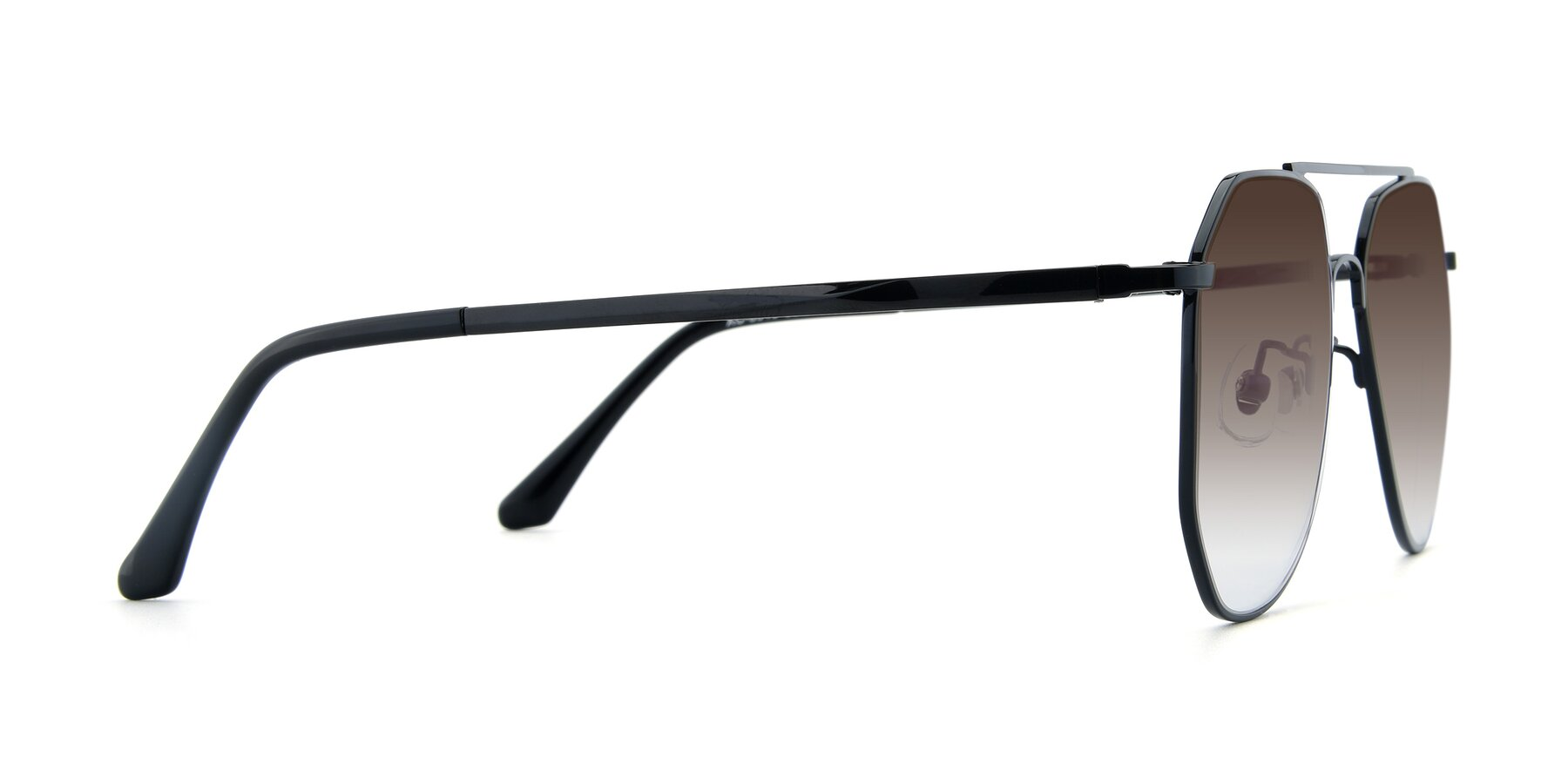 Side of XC-8040 in Black with Brown Gradient Lenses