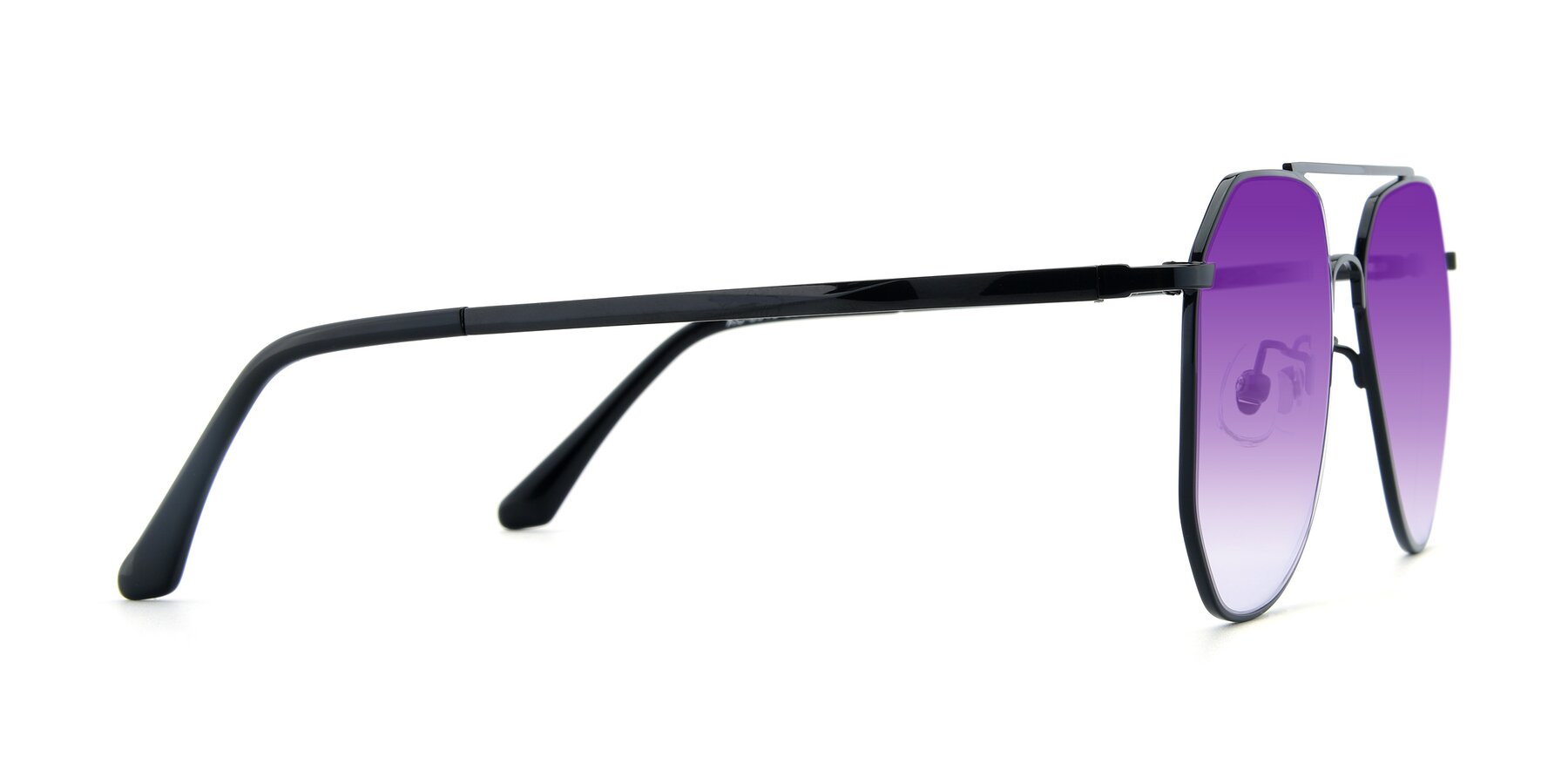 Side of XC-8040 in Black with Purple Gradient Lenses