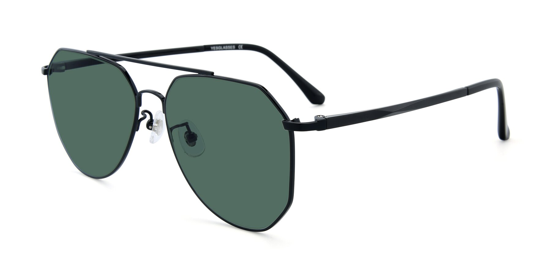 Angle of XC-8040 in Black with Green Polarized Lenses