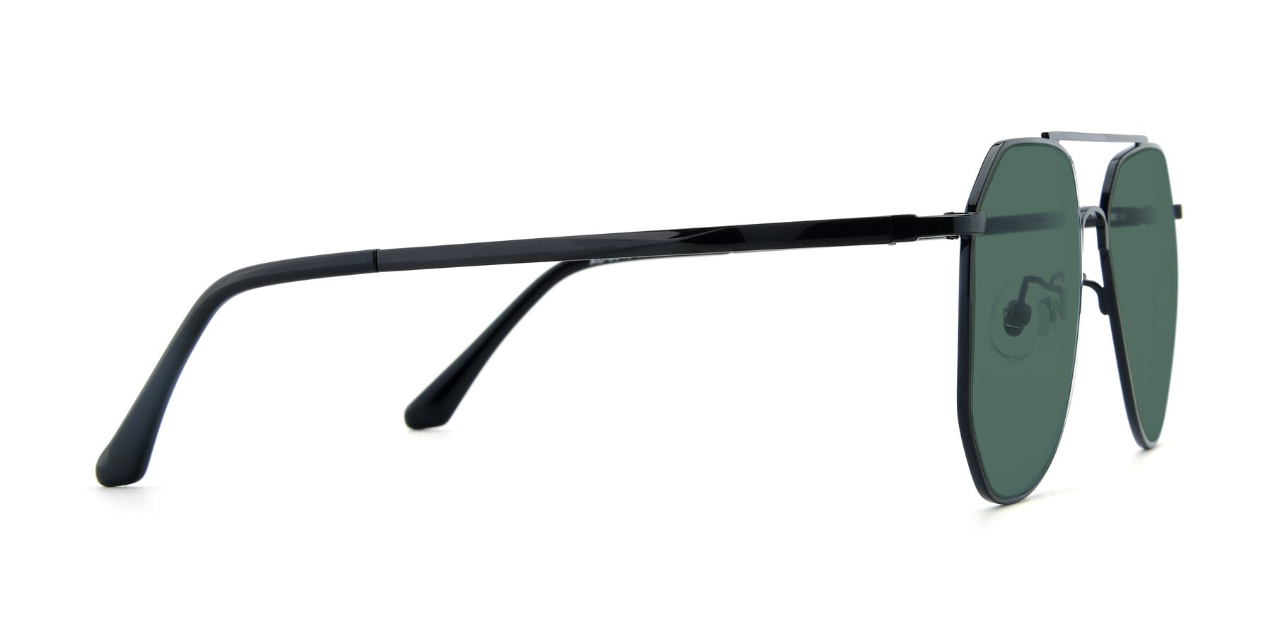 Side of XC-8040 in Black with Green Polarized Lenses