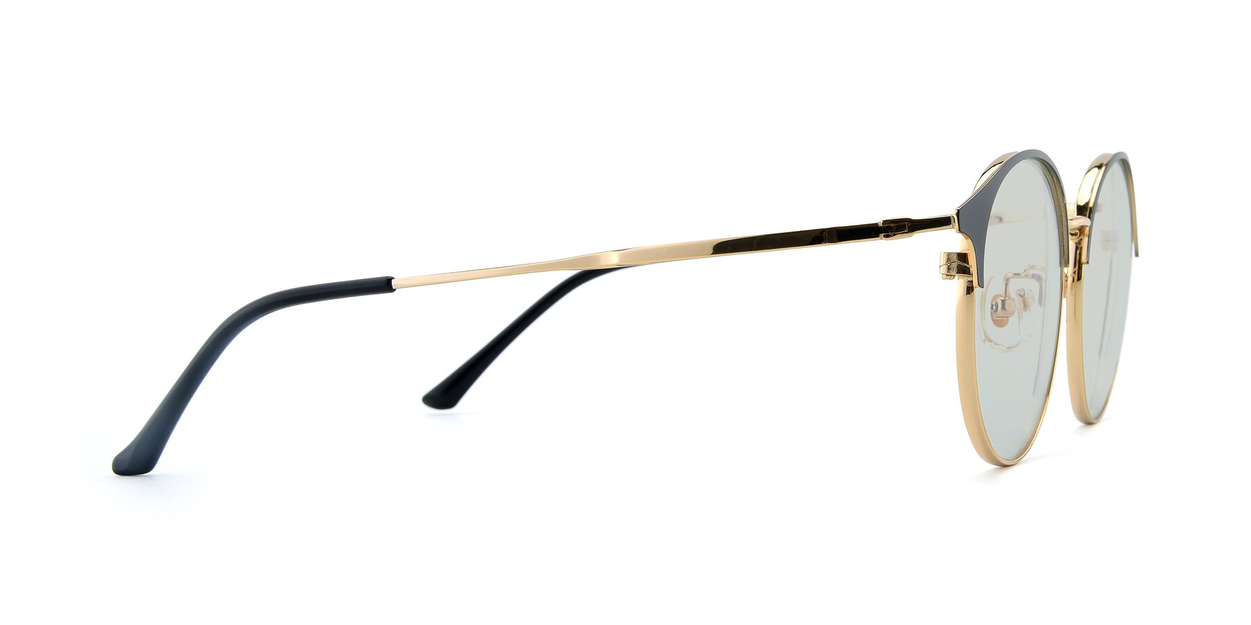 Side of XC-8031 in Black-Gold with Light Green Tinted Lenses