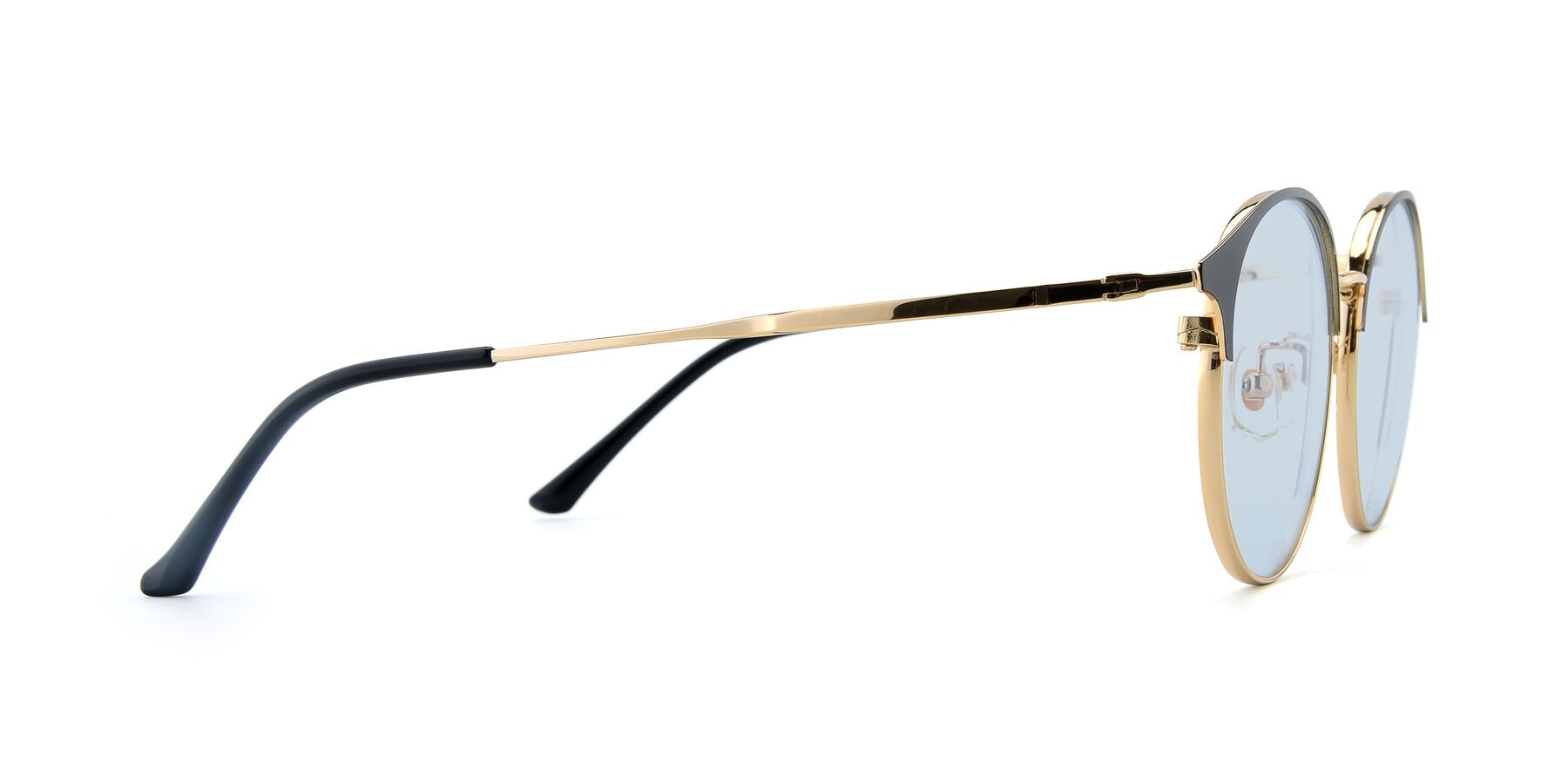 Side of XC-8031 in Black-Gold with Light Blue Tinted Lenses