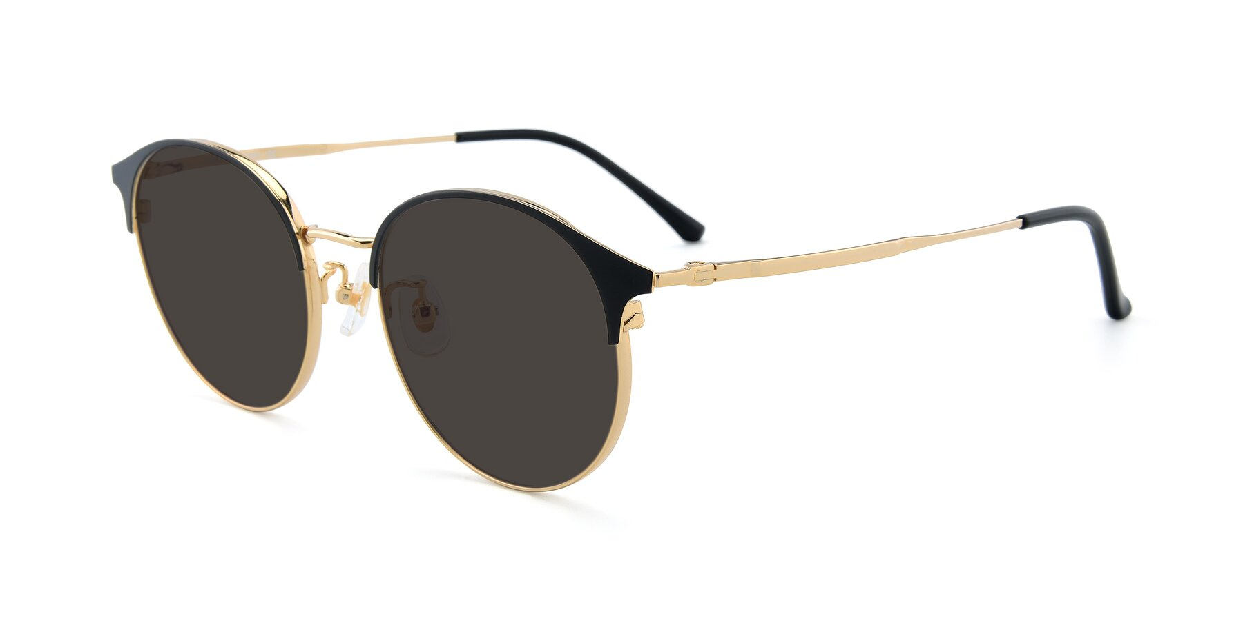 Angle of XC-8031 in Black-Gold with Gray Tinted Lenses