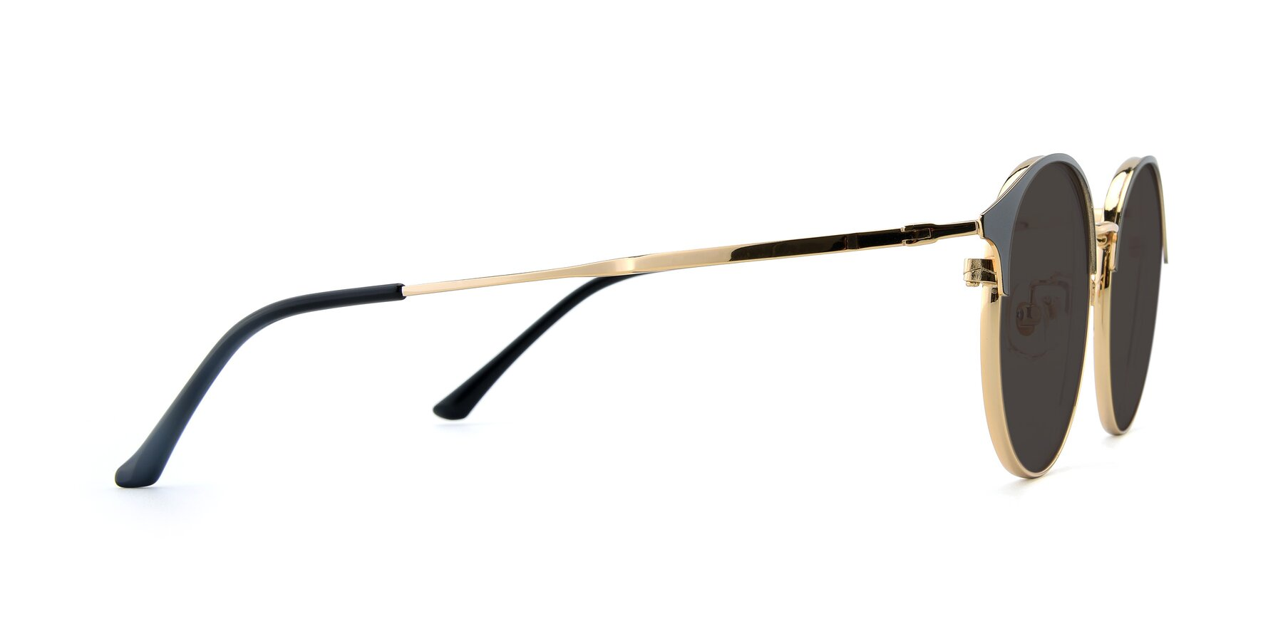 Side of XC-8031 in Black-Gold with Gray Tinted Lenses