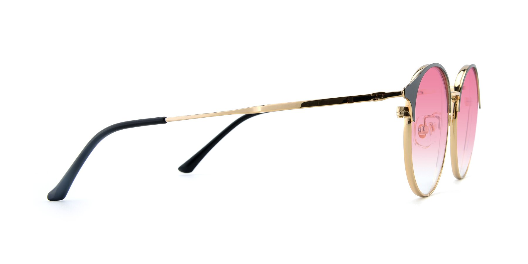 Side of XC-8031 in Black-Gold with Pink Gradient Lenses
