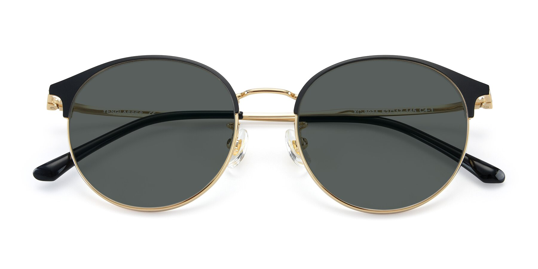 Folded Front of XC-8031 in Black-Gold with Gray Polarized Lenses