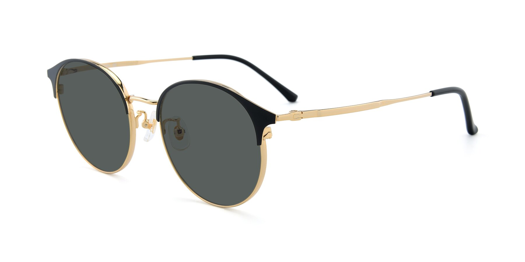 Angle of XC-8031 in Black-Gold with Gray Polarized Lenses