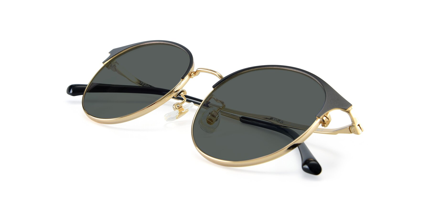 View of XC-8031 in Black-Gold with Gray Polarized Lenses