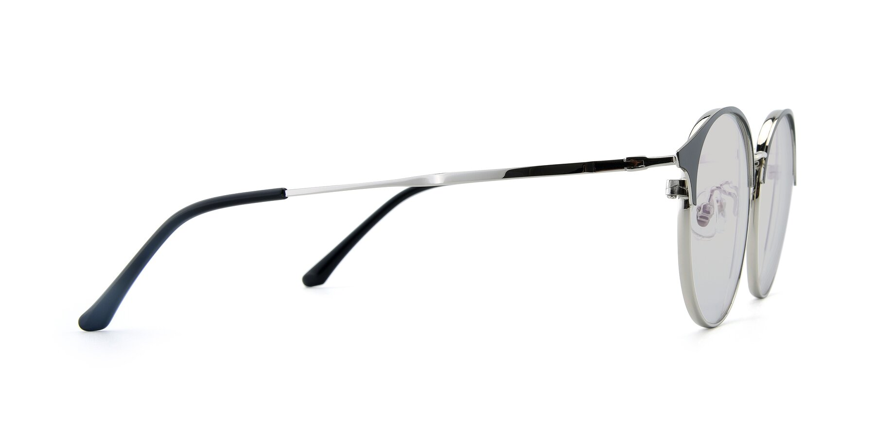Side of XC-8031 in Black-Silver with Light Gray Tinted Lenses