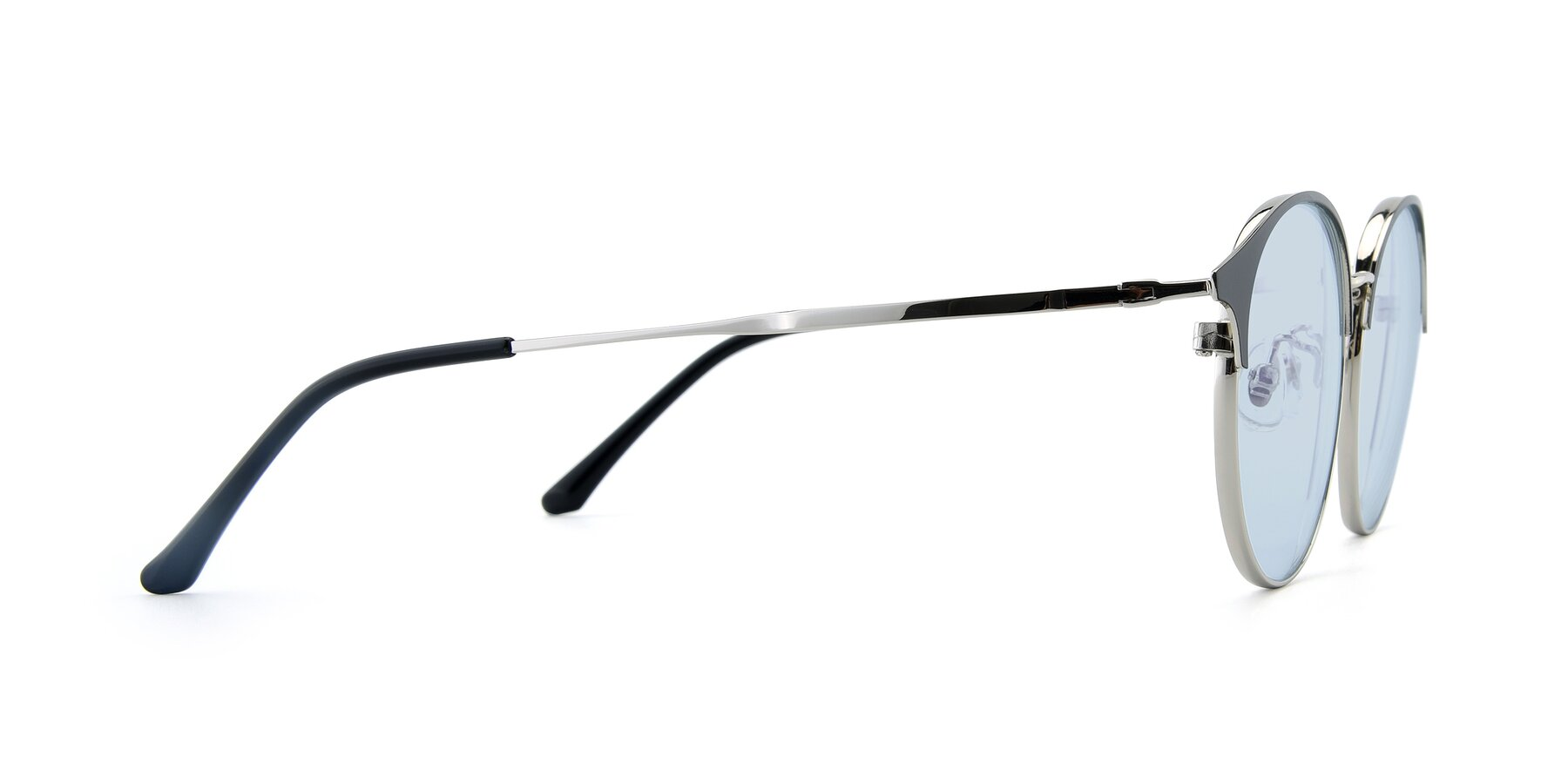 Side of XC-8031 in Black-Silver with Light Blue Tinted Lenses