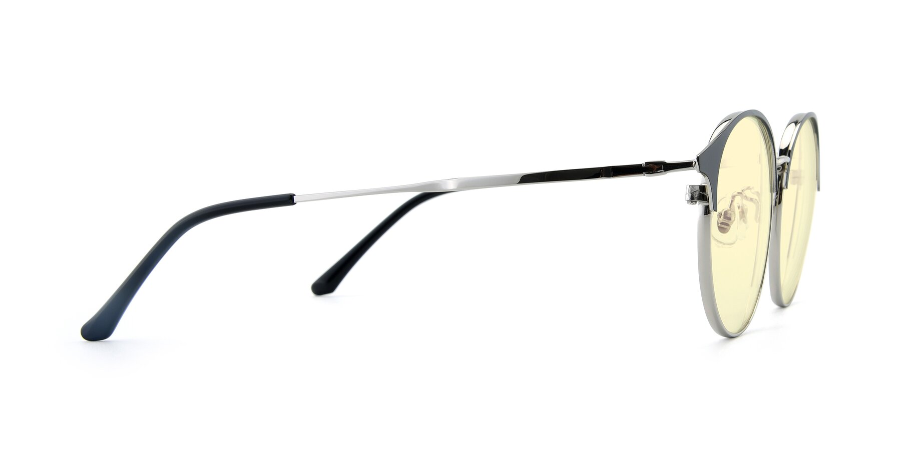 Side of XC-8031 in Black-Silver with Light Yellow Tinted Lenses
