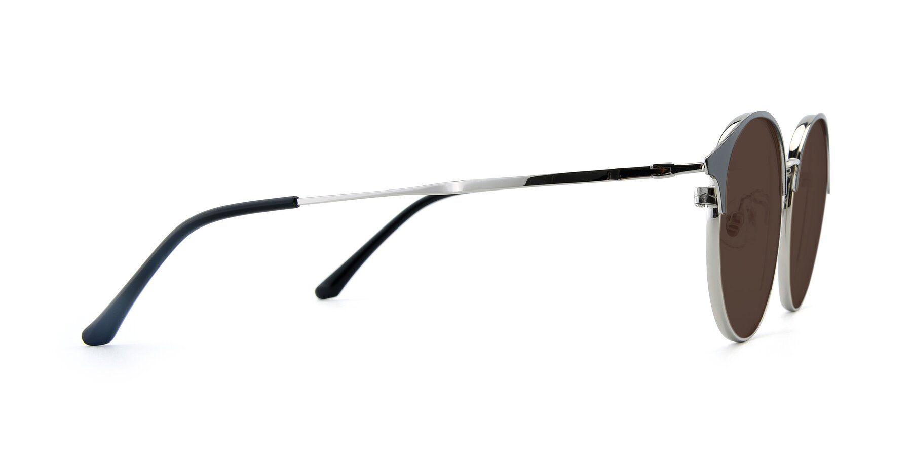 Side of XC-8031 in Black-Silver with Brown Tinted Lenses