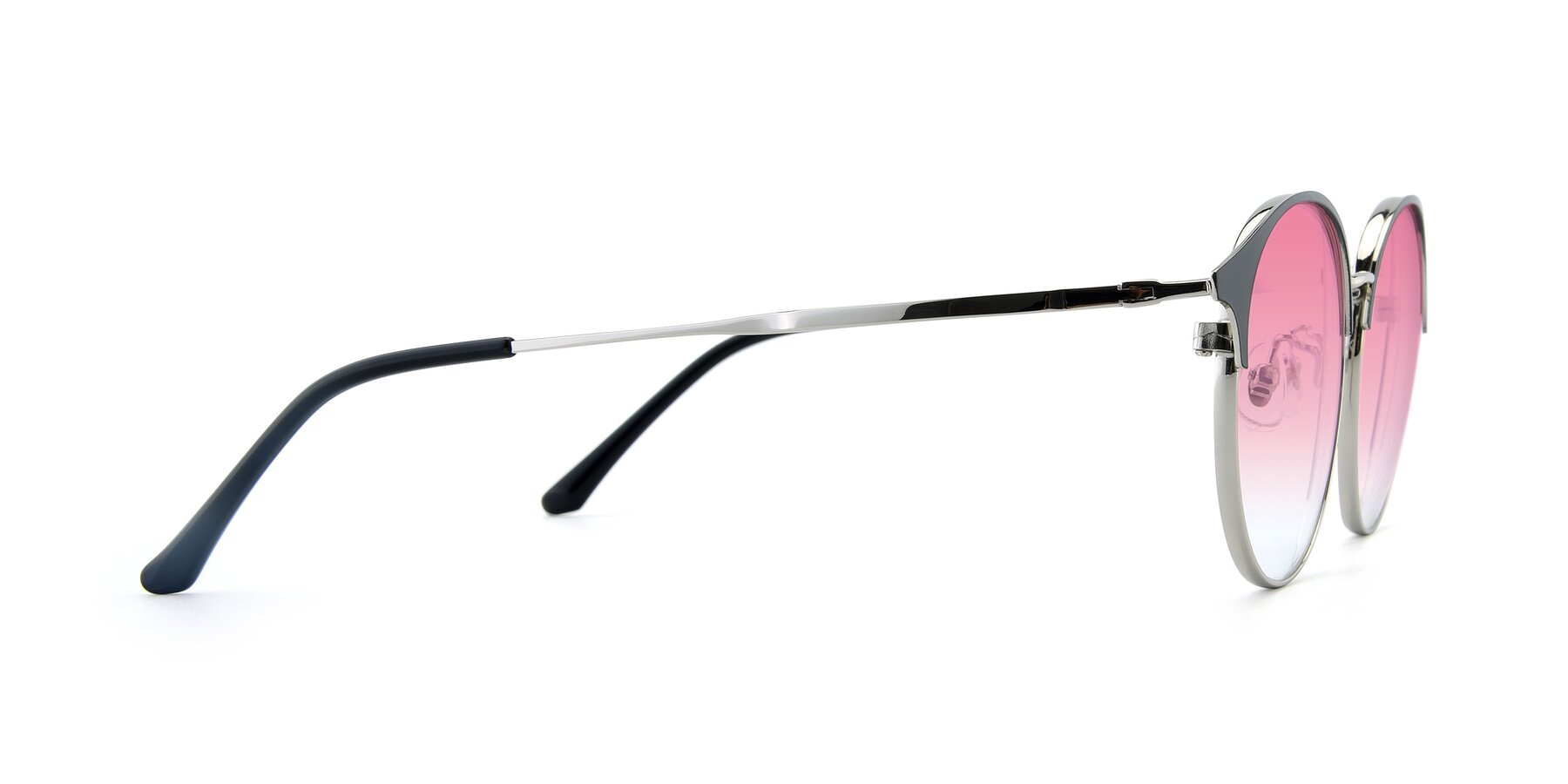 Side of XC-8031 in Black-Silver with Pink Gradient Lenses